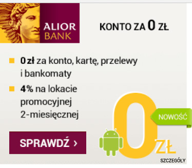 Alior Bank - konto internetowe